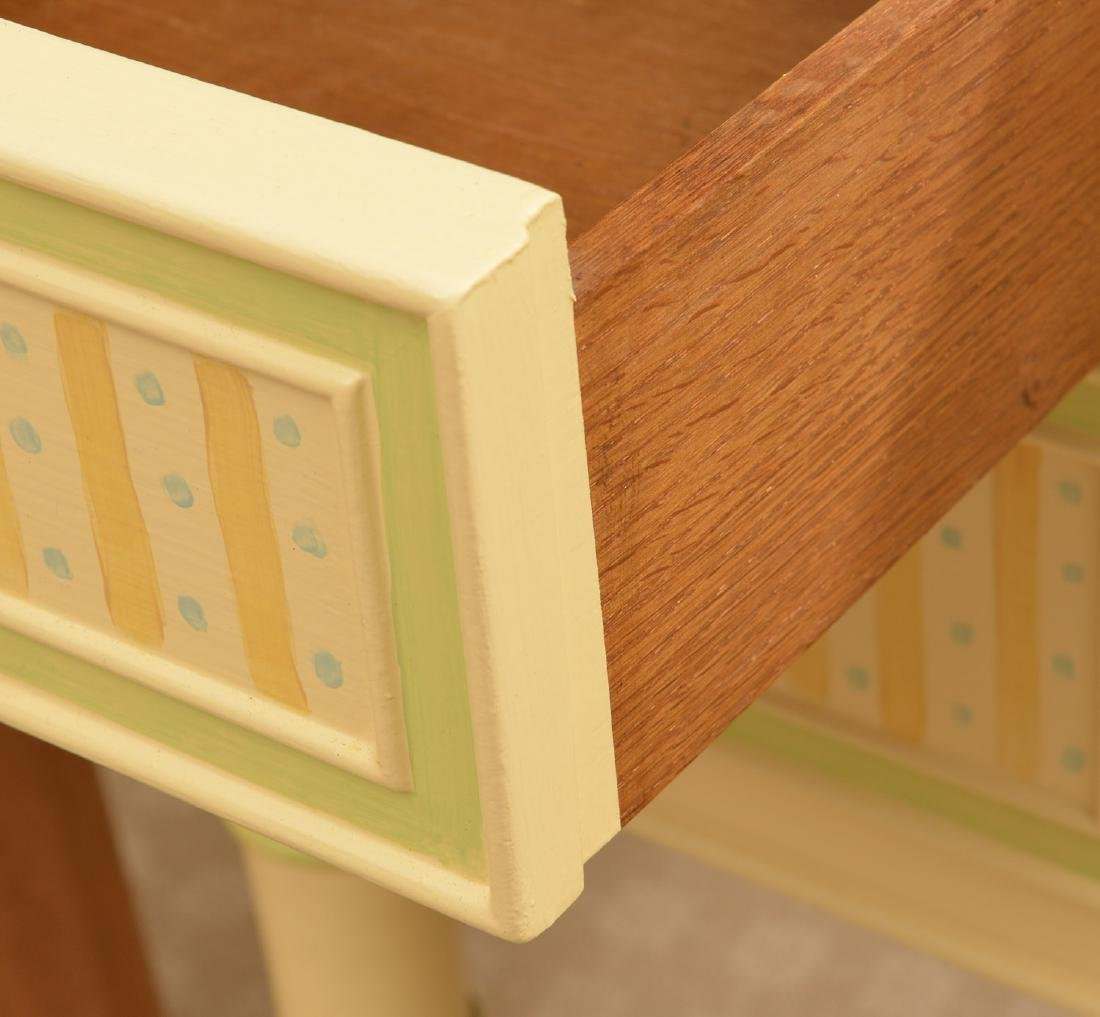Mackenzie-Childs style whimsical painted desk - 2
