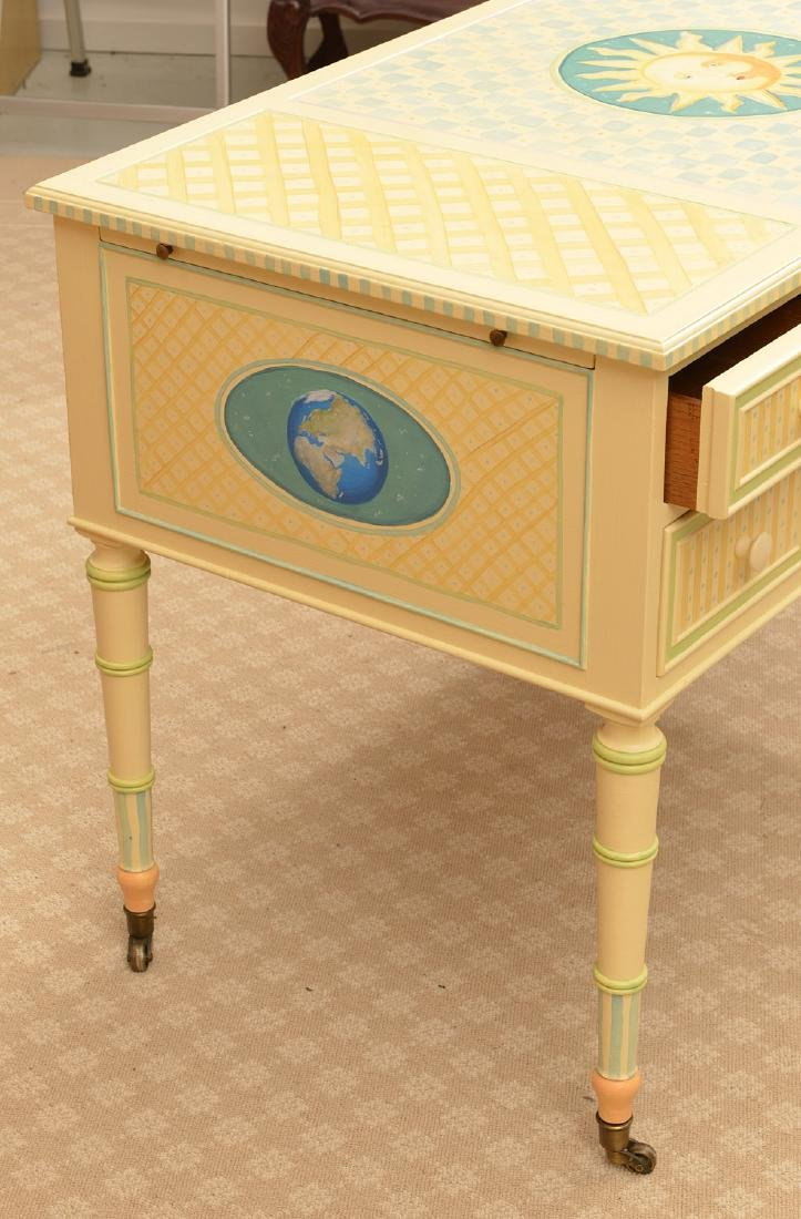Mackenzie-Childs style whimsical painted desk - 3