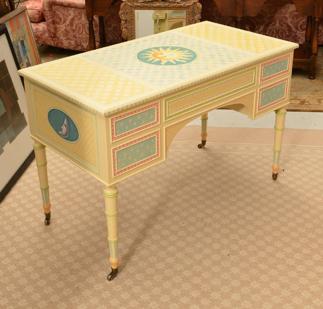 Mackenzie-Childs style whimsical painted desk - 5