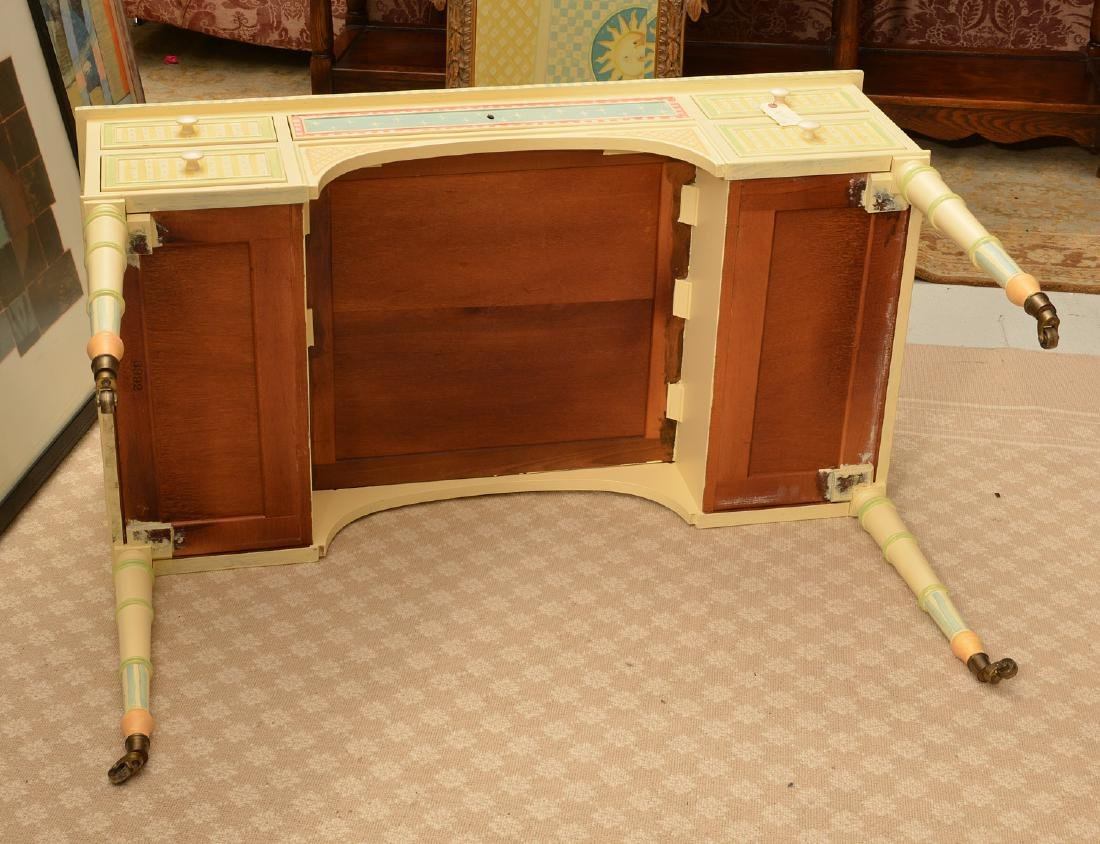 Mackenzie-Childs style whimsical painted desk - 7