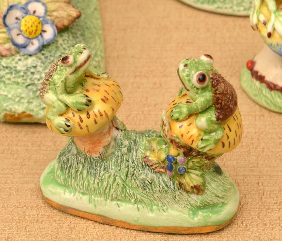 (6) Basil Matthews miniature porcelain frogs - 2