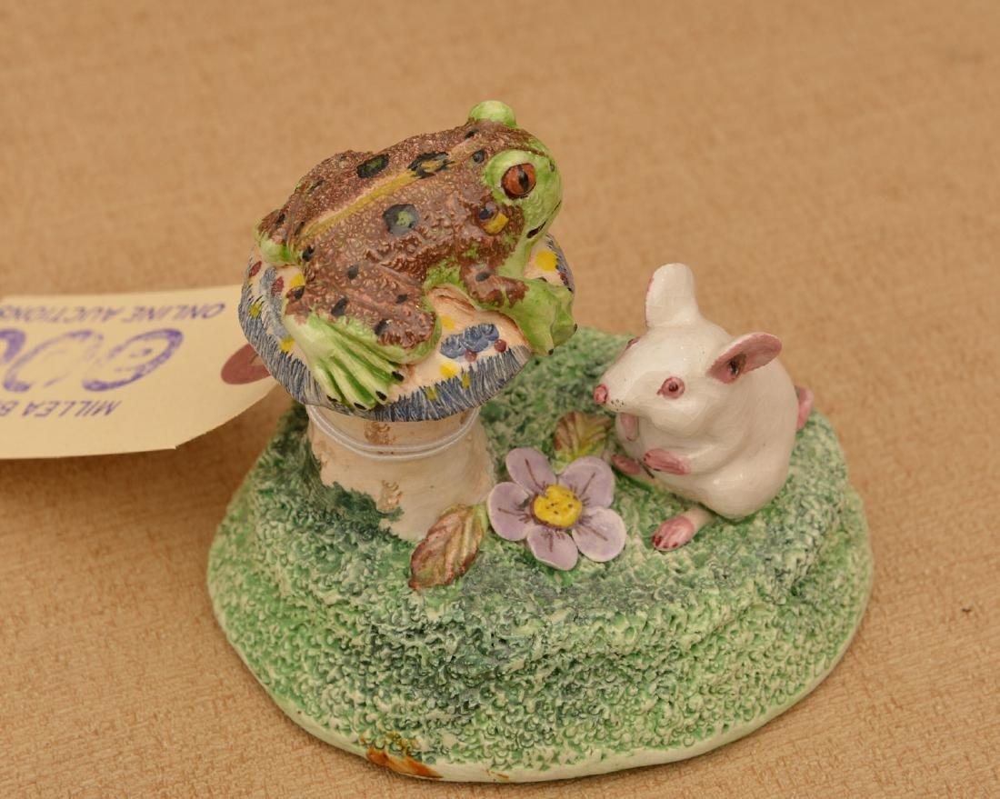 (6) Basil Matthews miniature porcelain frogs - 3