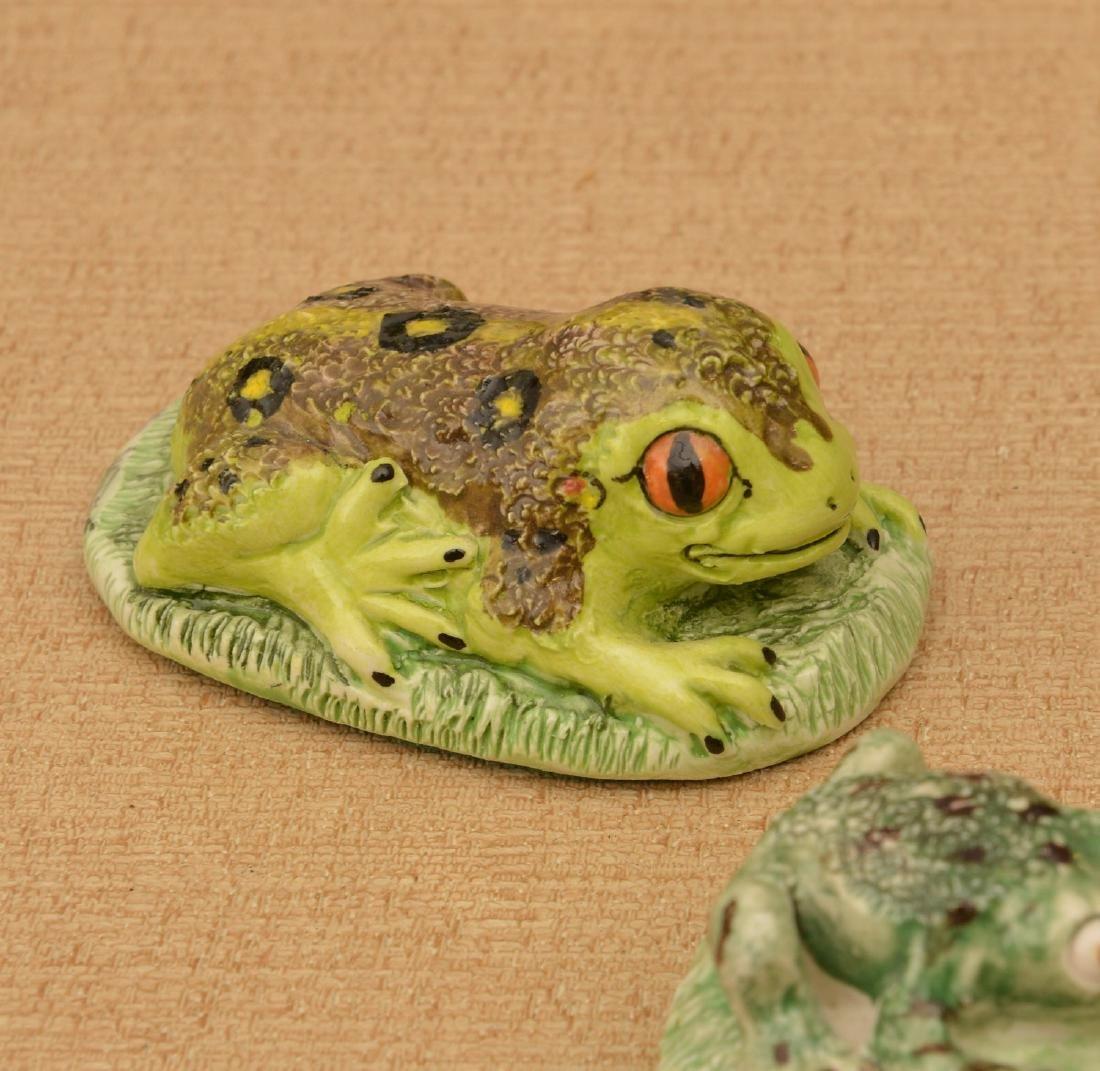 (6) Basil Matthews miniature porcelain frogs - 4