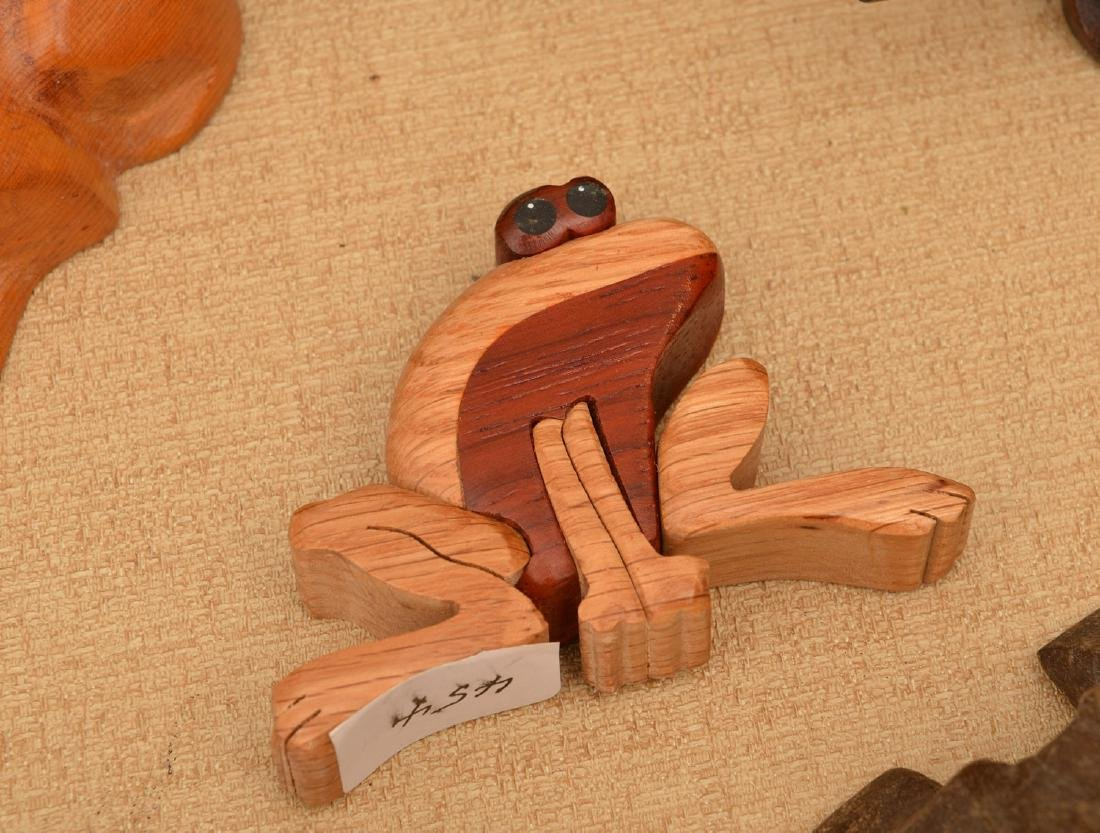Instant collection (20+) carved wood frogs - 4