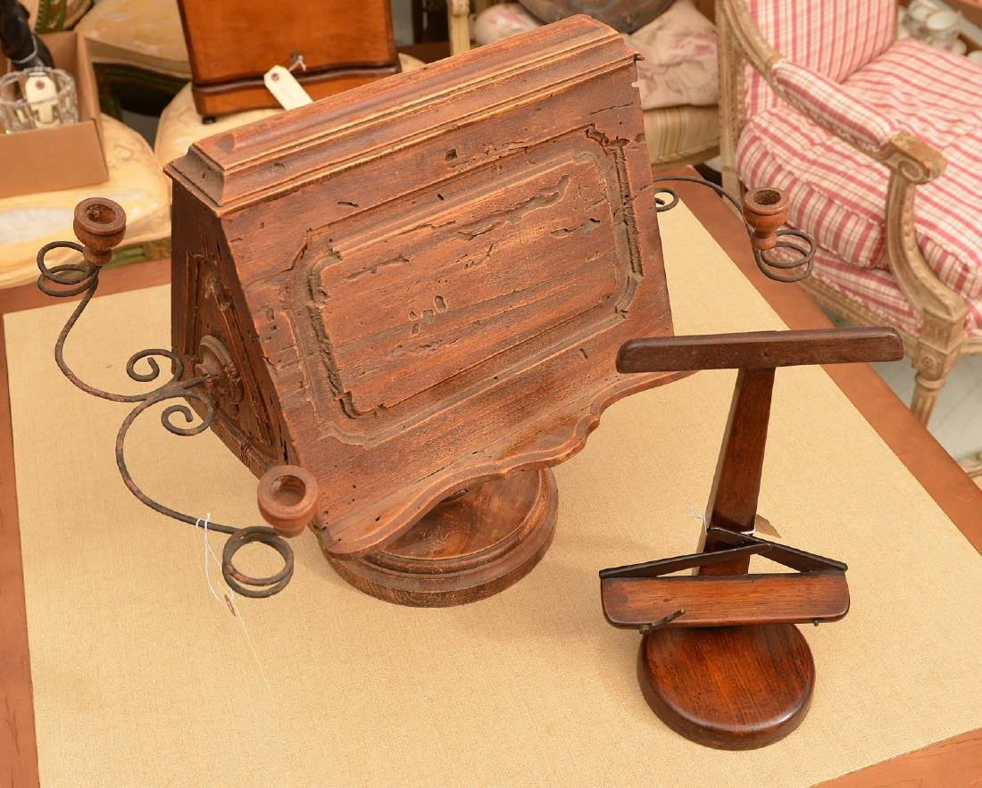 (2) antique tabletop book stands - 4