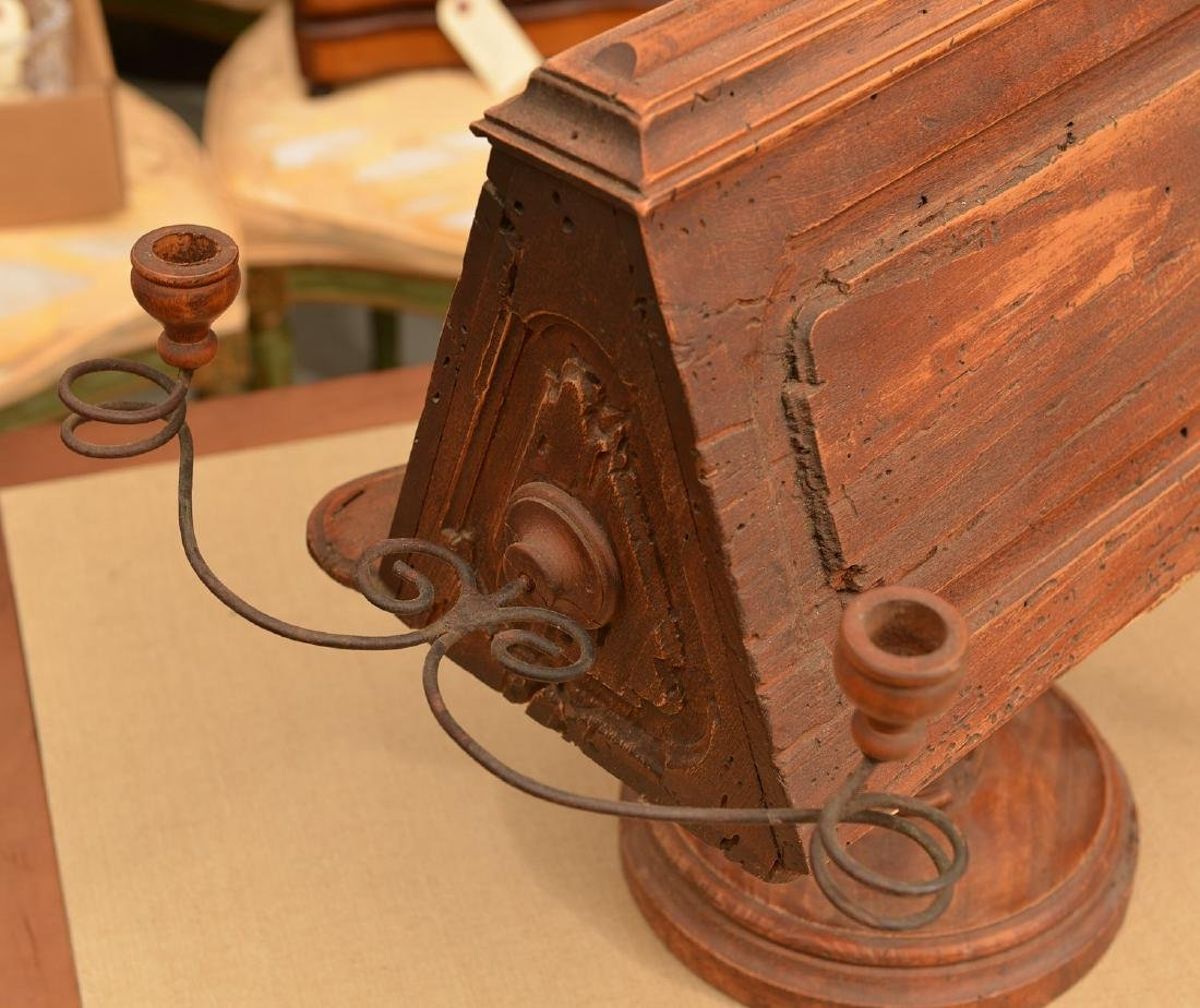 (2) antique tabletop book stands - 7