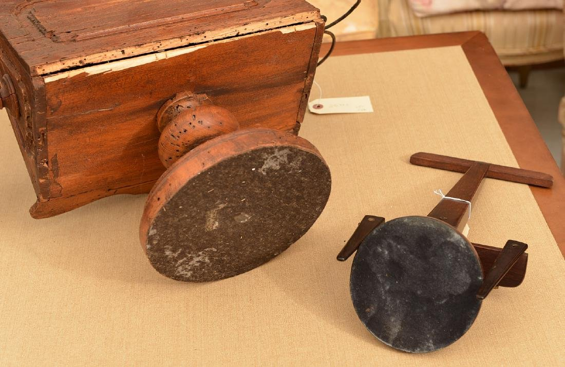 (2) antique tabletop book stands - 9