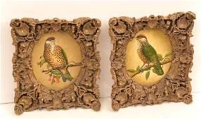 American School, pair ornithological paintings