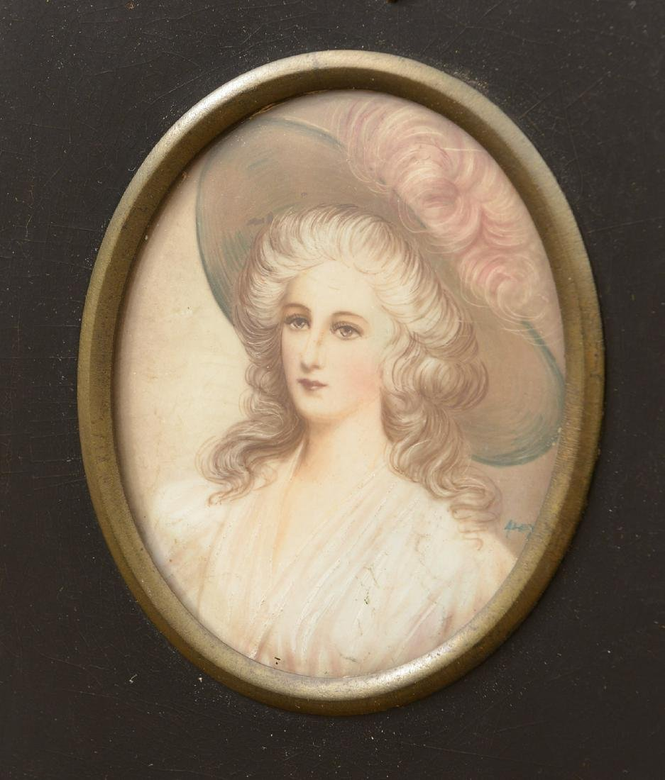 (2) Continental painted portrait miniatures - 2