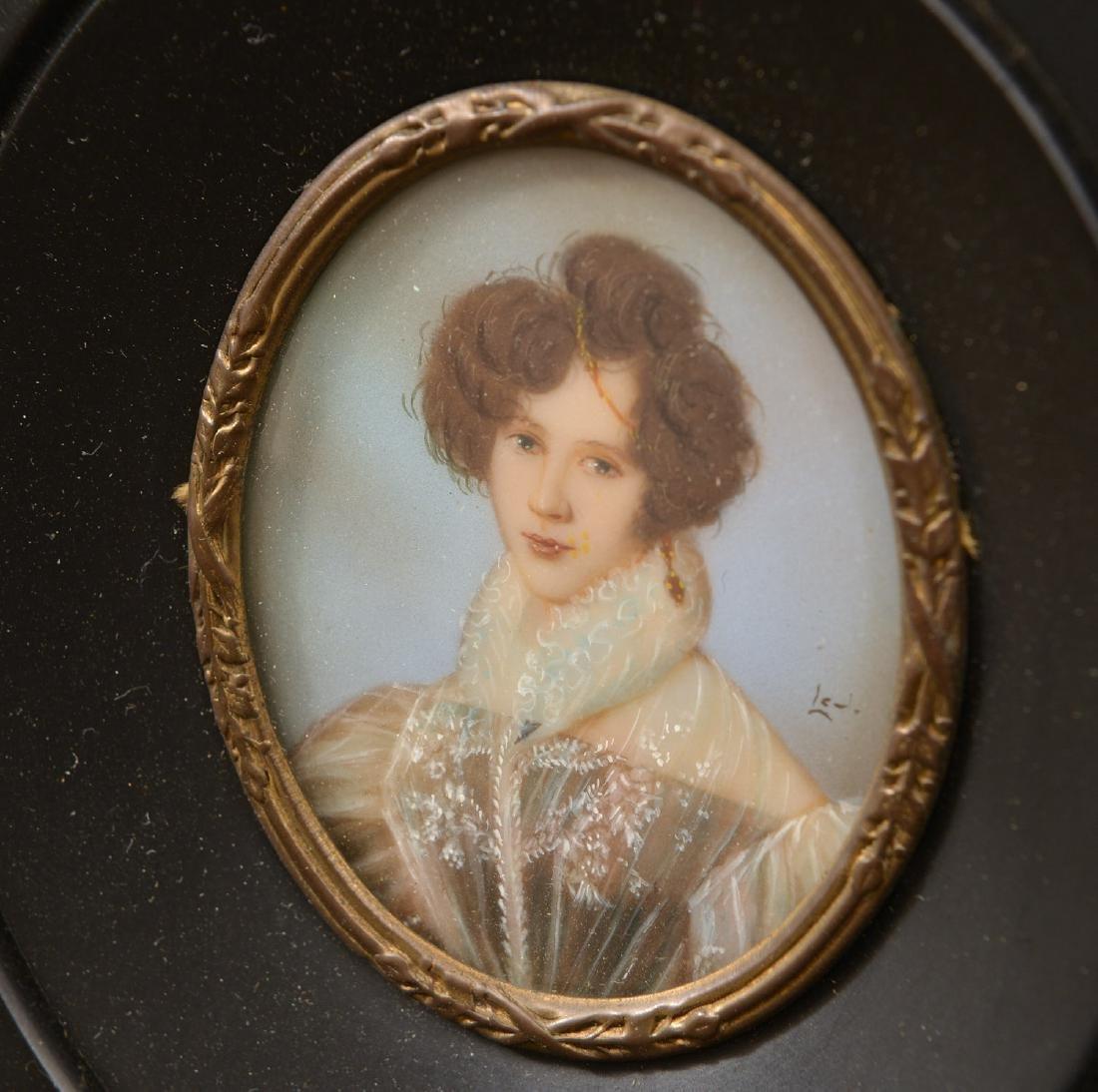 (2) Continental painted portrait miniatures - 3