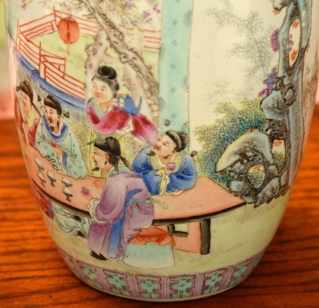 Chinese famille rose porcelain jar and cover - 2