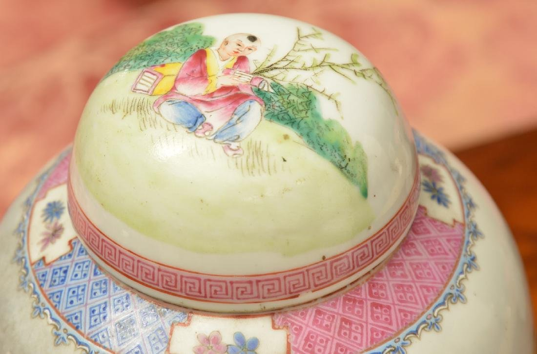 Chinese famille rose porcelain jar and cover - 3