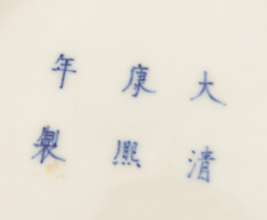 Chinese Kangxi style blue/white porcelain dish - 3