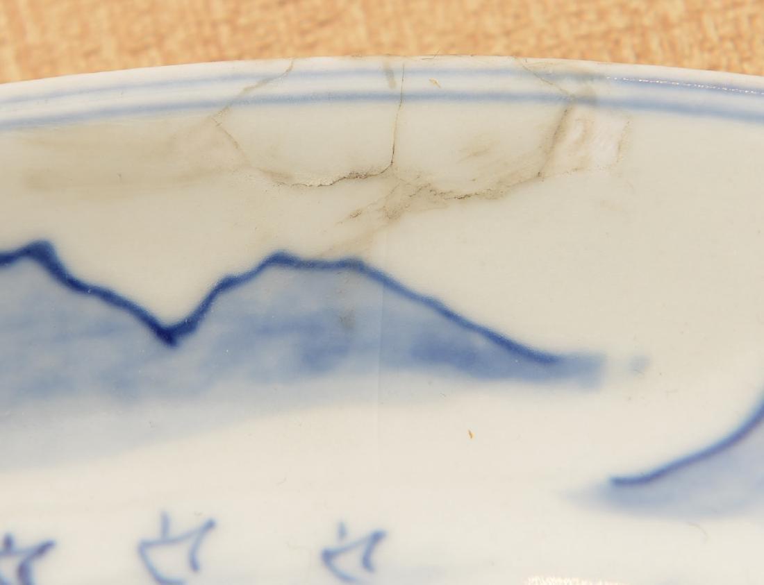 Chinese Kangxi style blue/white porcelain dish - 4