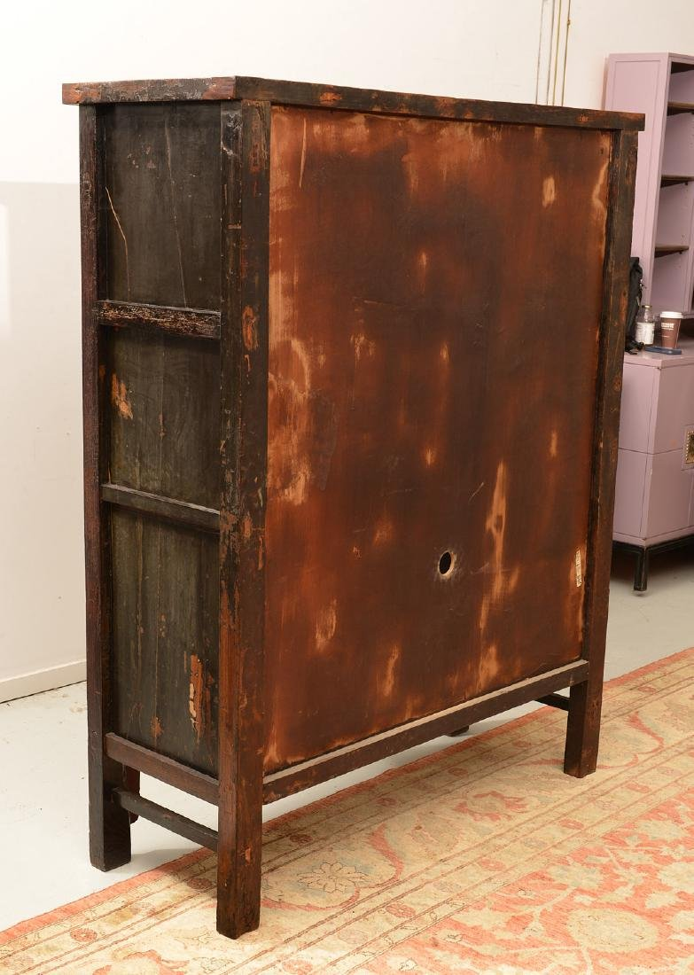 Chinese parcel gilt red lacquer cabinet - 9