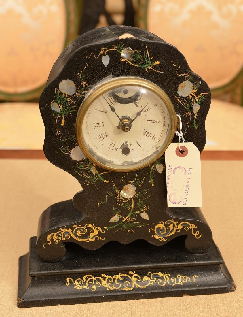 Litchfield Mfg. Co. paper mache shelf clock case