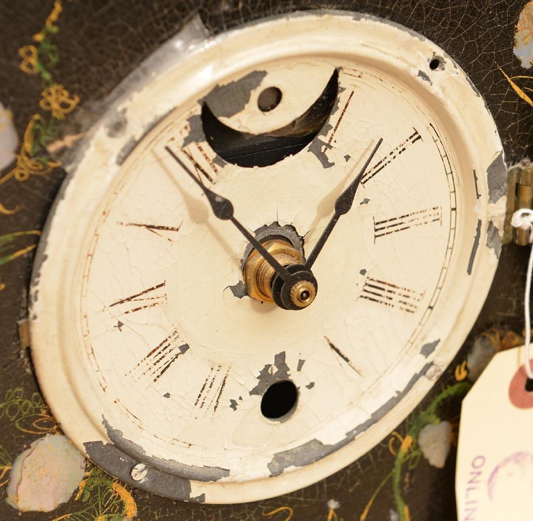 Litchfield Mfg. Co. paper mache shelf clock case - 2
