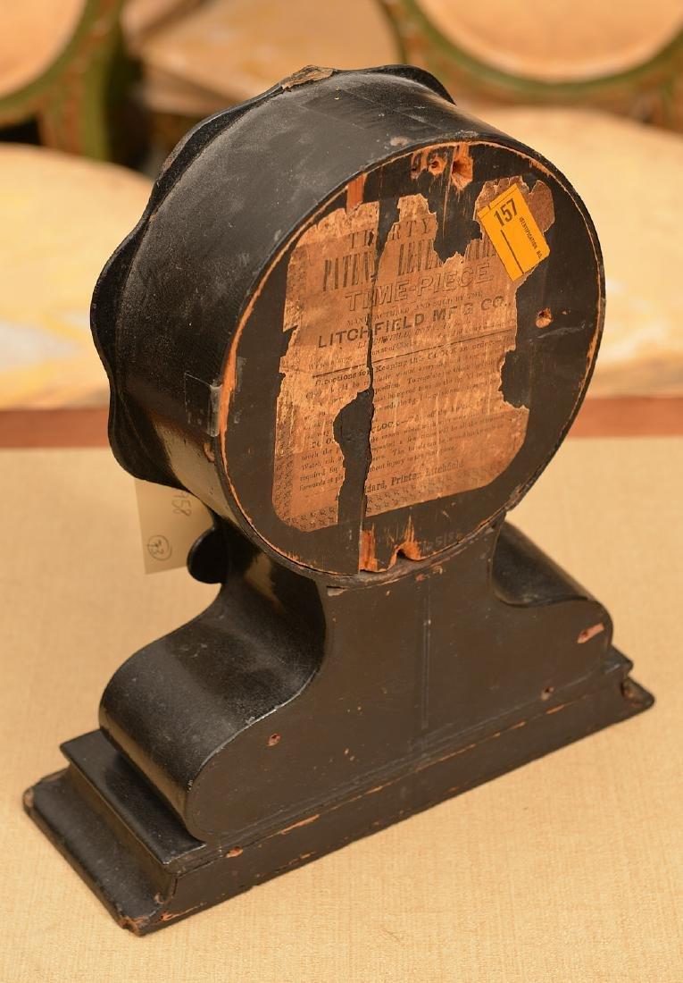 Litchfield Mfg. Co. paper mache shelf clock case - 3
