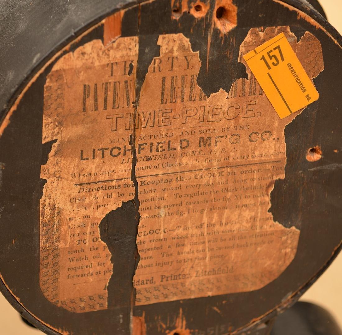 Litchfield Mfg. Co. paper mache shelf clock case - 4