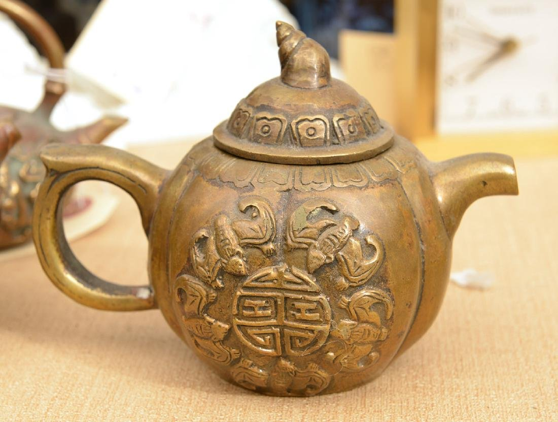 Collection (9) Chinese bronze teapots - 2