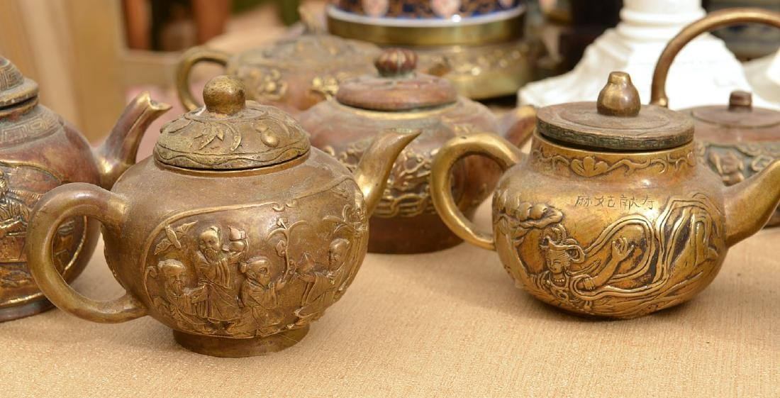 Collection (9) Chinese bronze teapots - 5