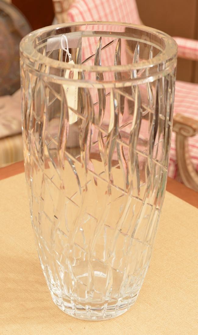 Large Webb & Corbett Art Deco cut glass vase