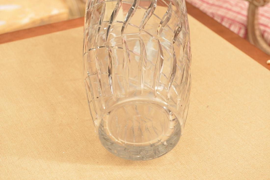 Large Webb & Corbett Art Deco cut glass vase - 2
