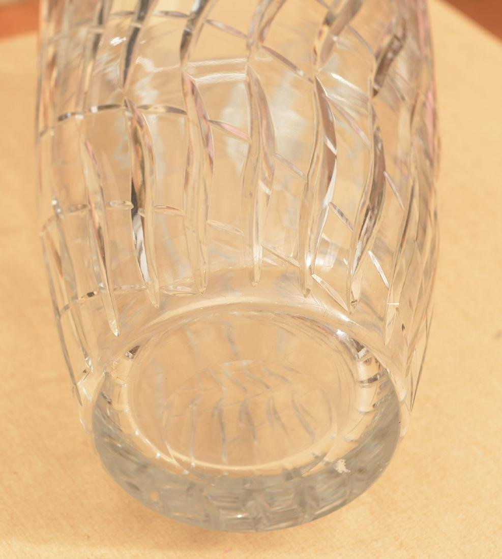 Large Webb & Corbett Art Deco cut glass vase - 3