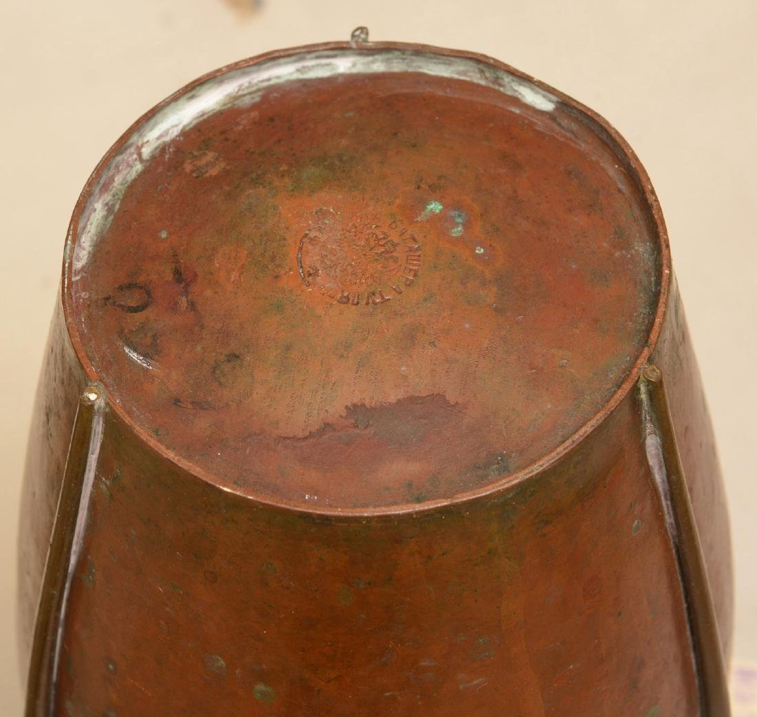 Batashev Russian Art Nouveau copper vase - 5