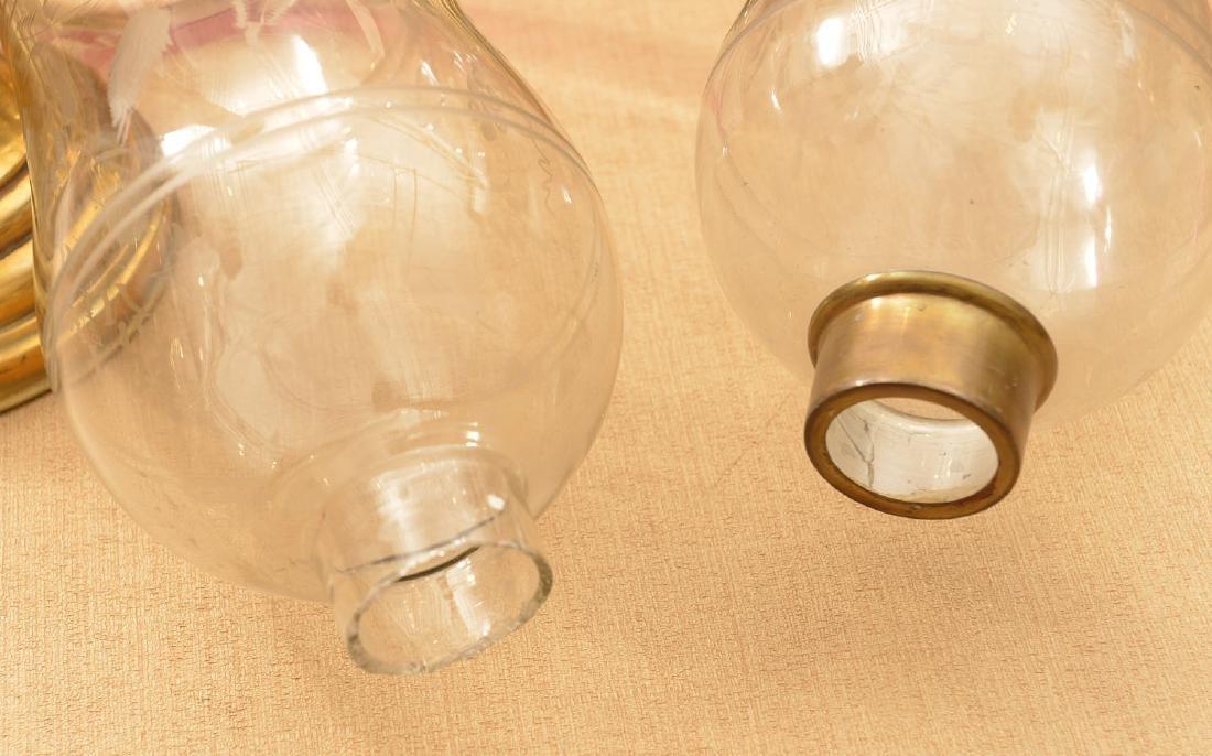 Pair antique Russian hurricane lamps - 5