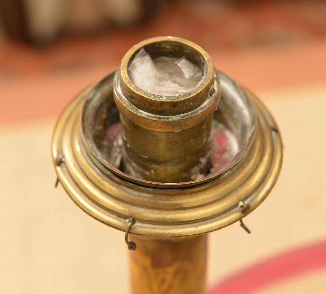 Pair antique Russian hurricane lamps - 6