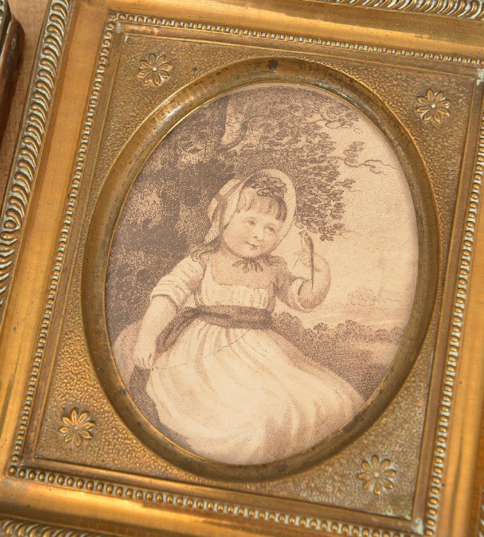 (3) antique framed miniature artworks - 2
