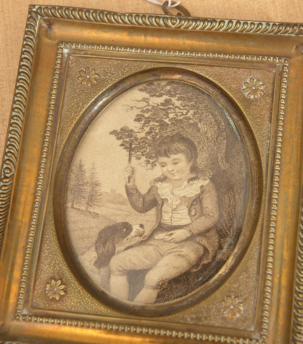 (3) antique framed miniature artworks - 3