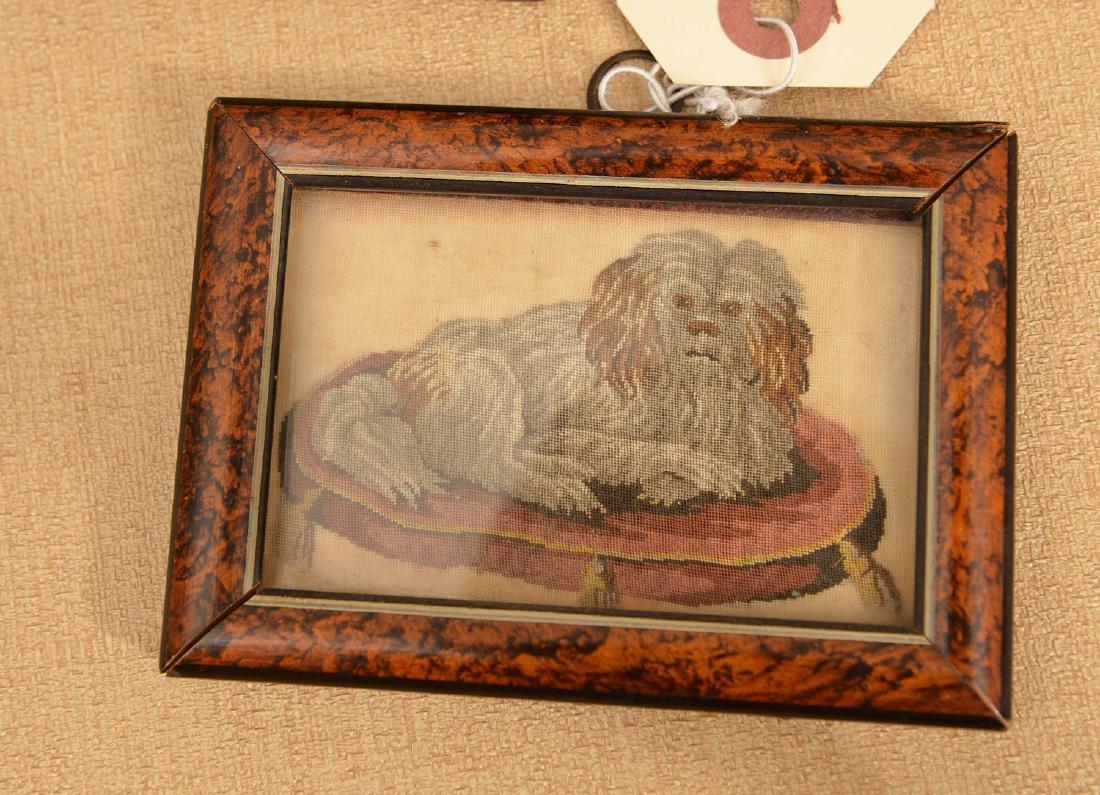 (3) antique framed miniature artworks - 4