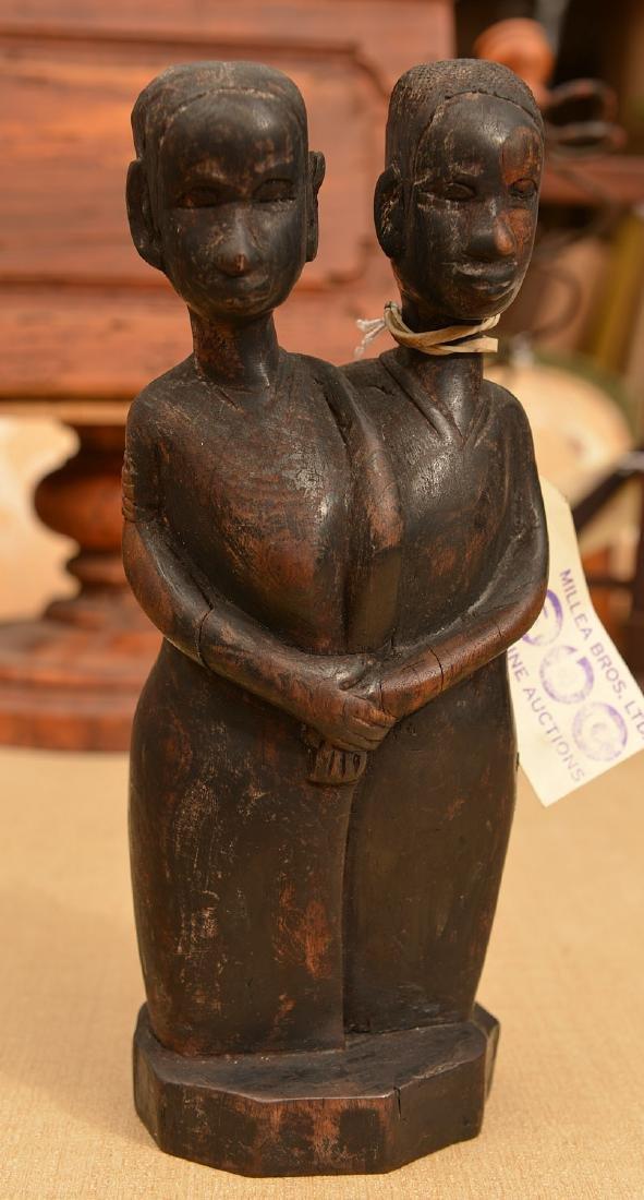 African hardwood figural carving