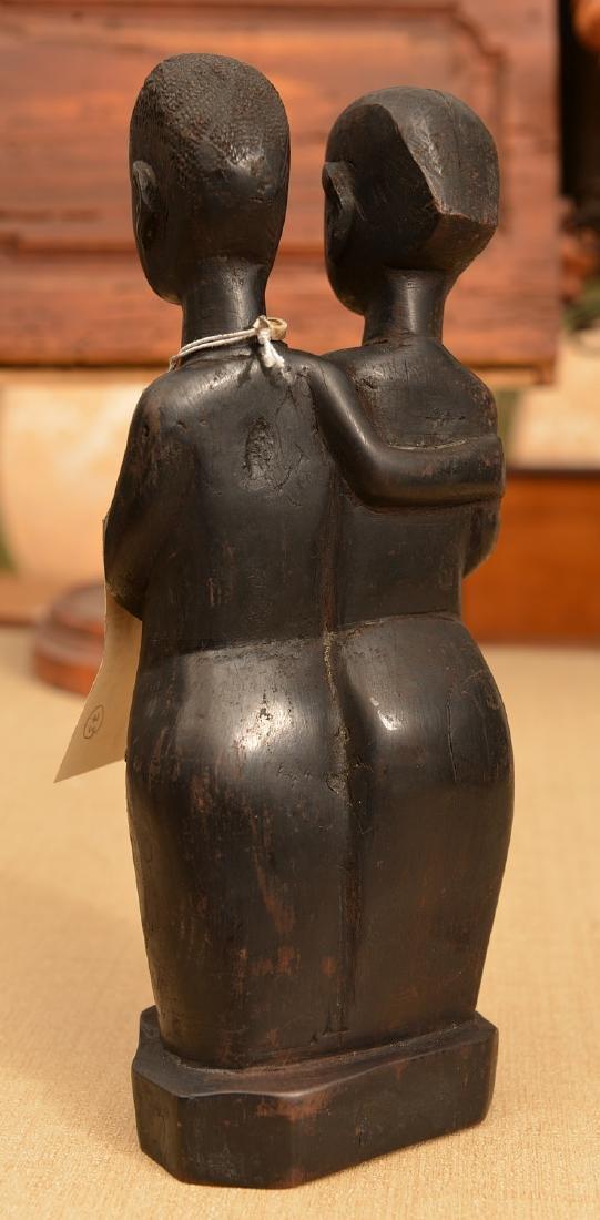 African hardwood figural carving - 2