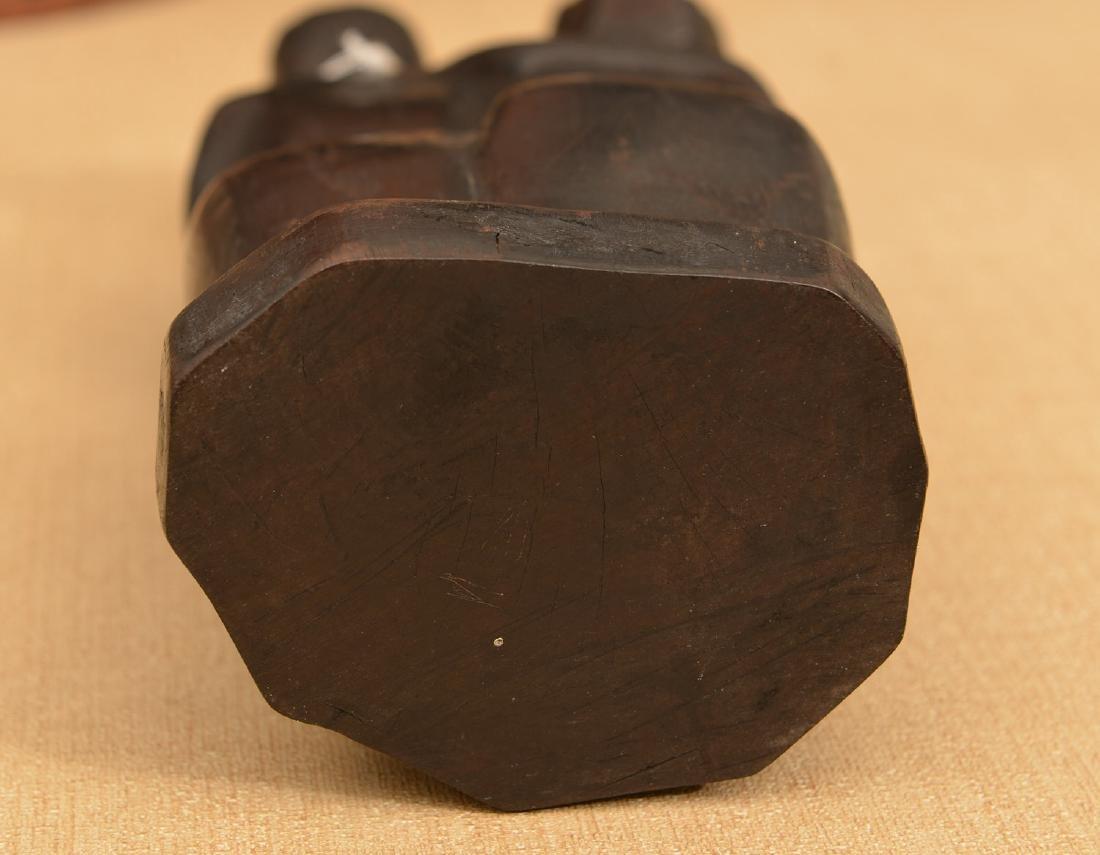 African hardwood figural carving - 3