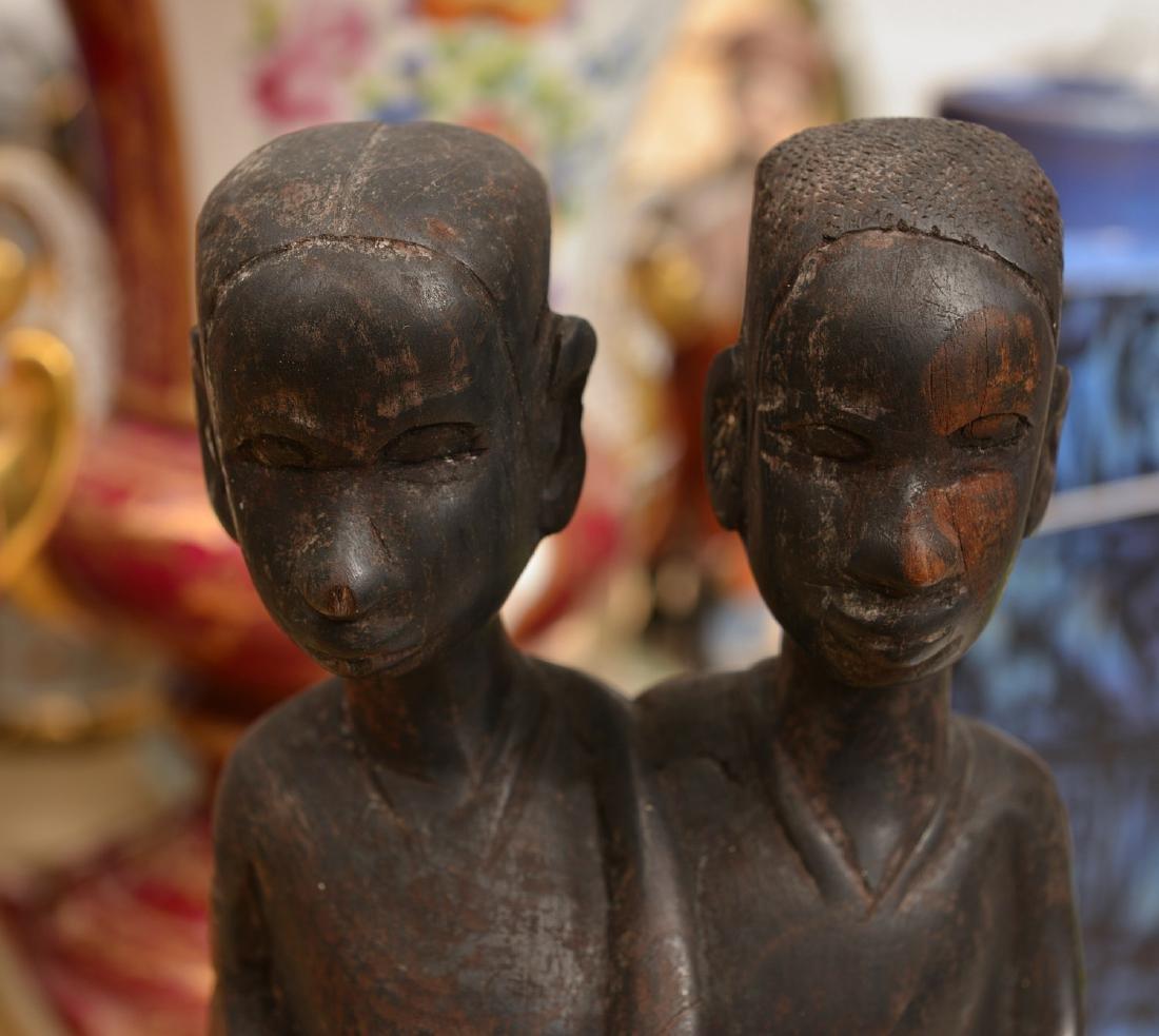 African hardwood figural carving - 4