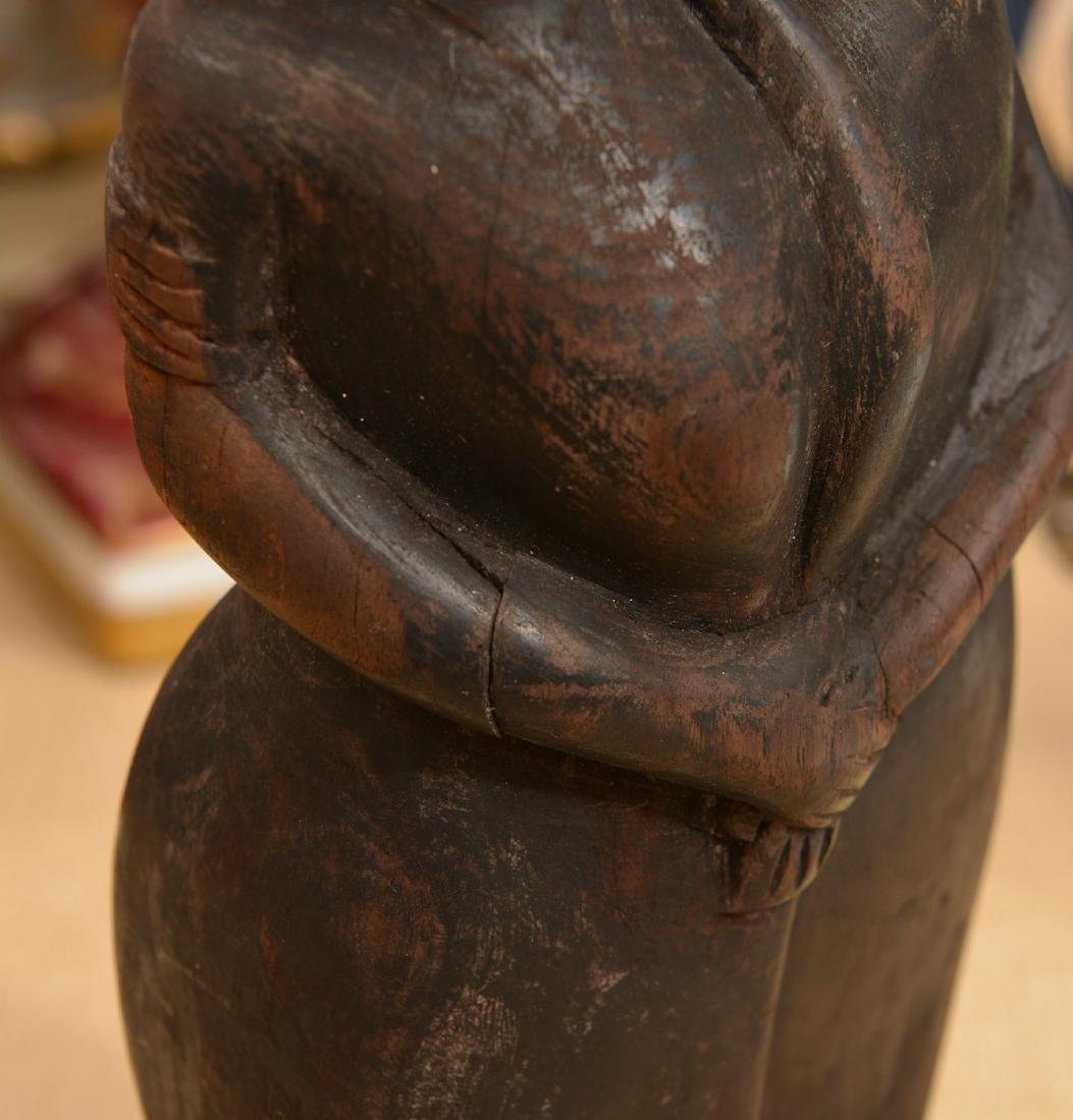 African hardwood figural carving - 5