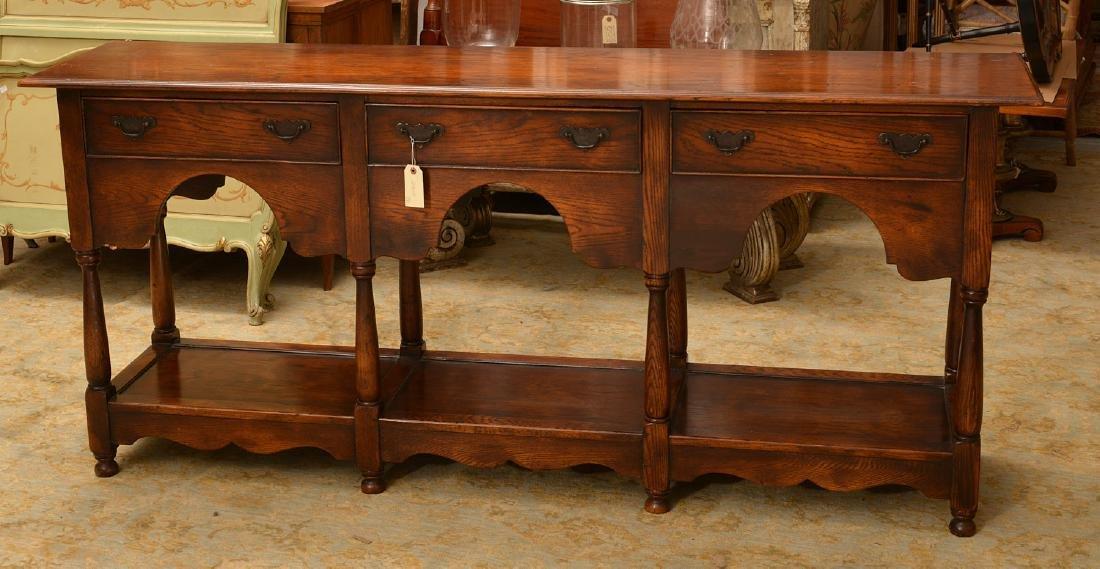Welsh style oak dresser base