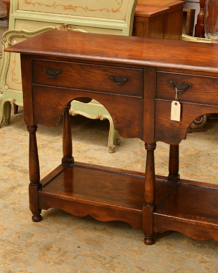 Welsh style oak dresser base - 3