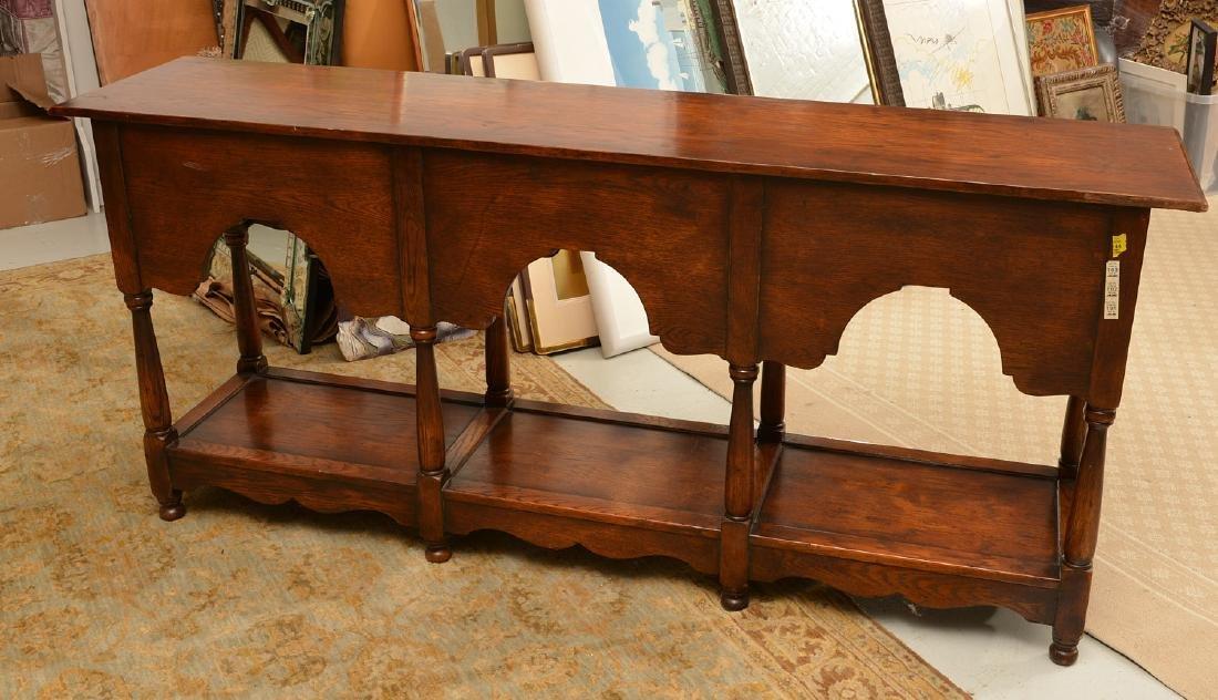Welsh style oak dresser base - 4