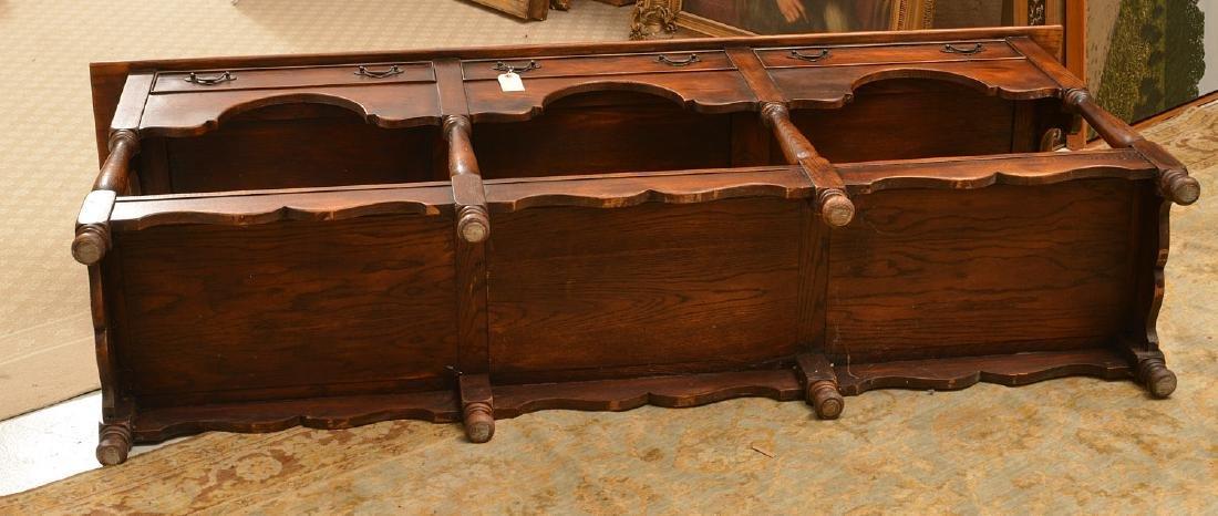 Welsh style oak dresser base - 5