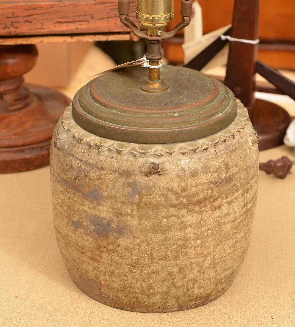 Early glazed earthenware jar