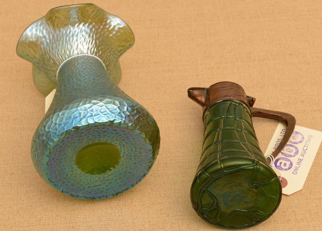 (2) Loetz type art glass vessels - 3