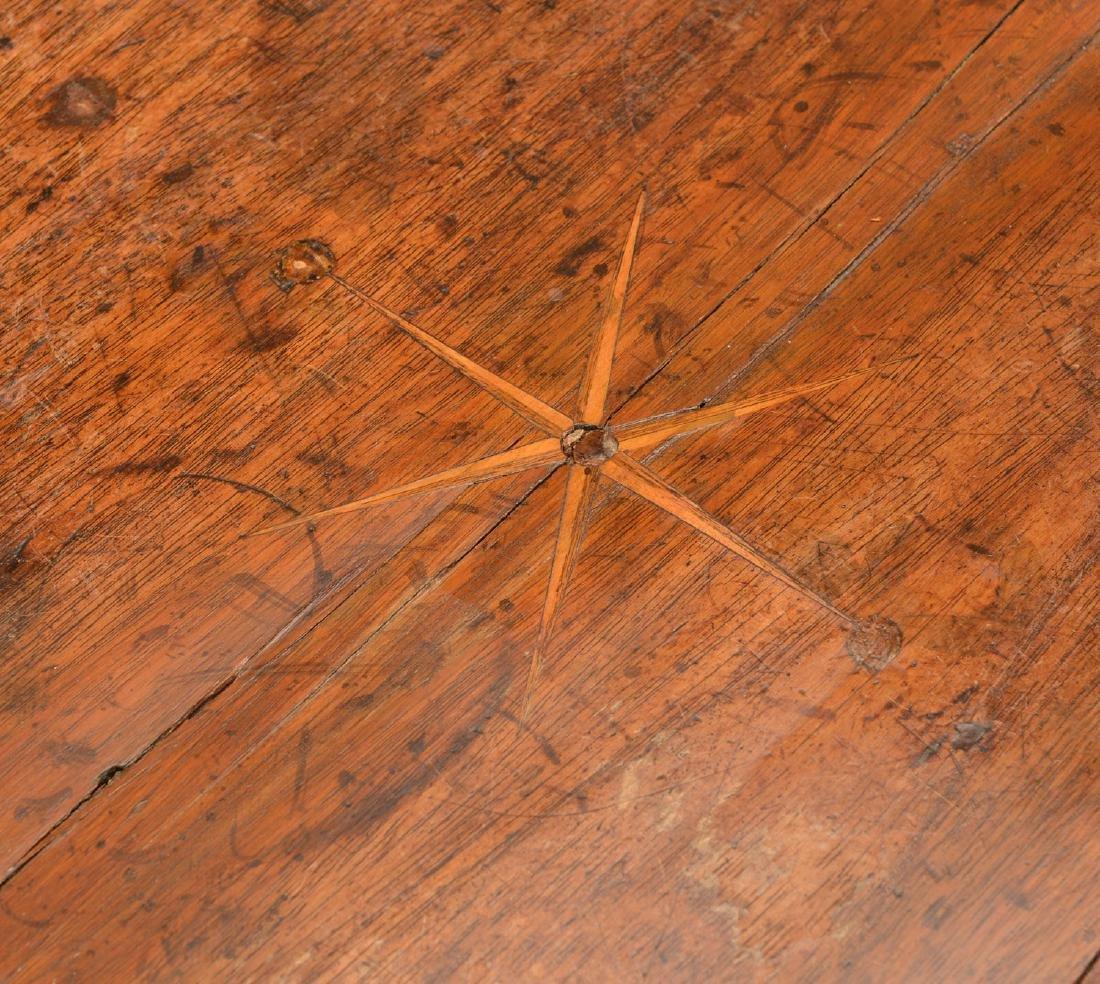 George III inlaid mahogany tray table - 2