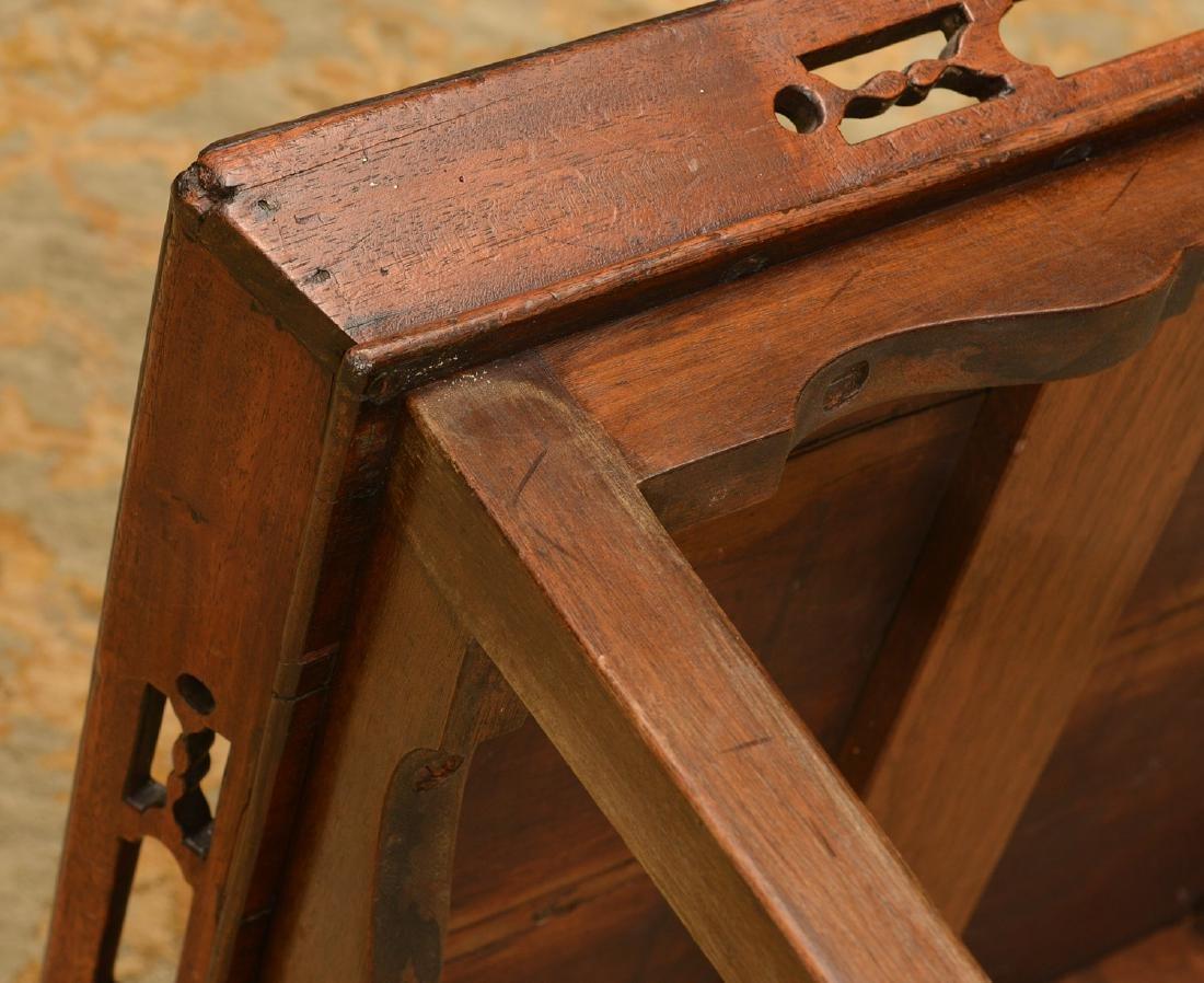 George III inlaid mahogany tray table - 3