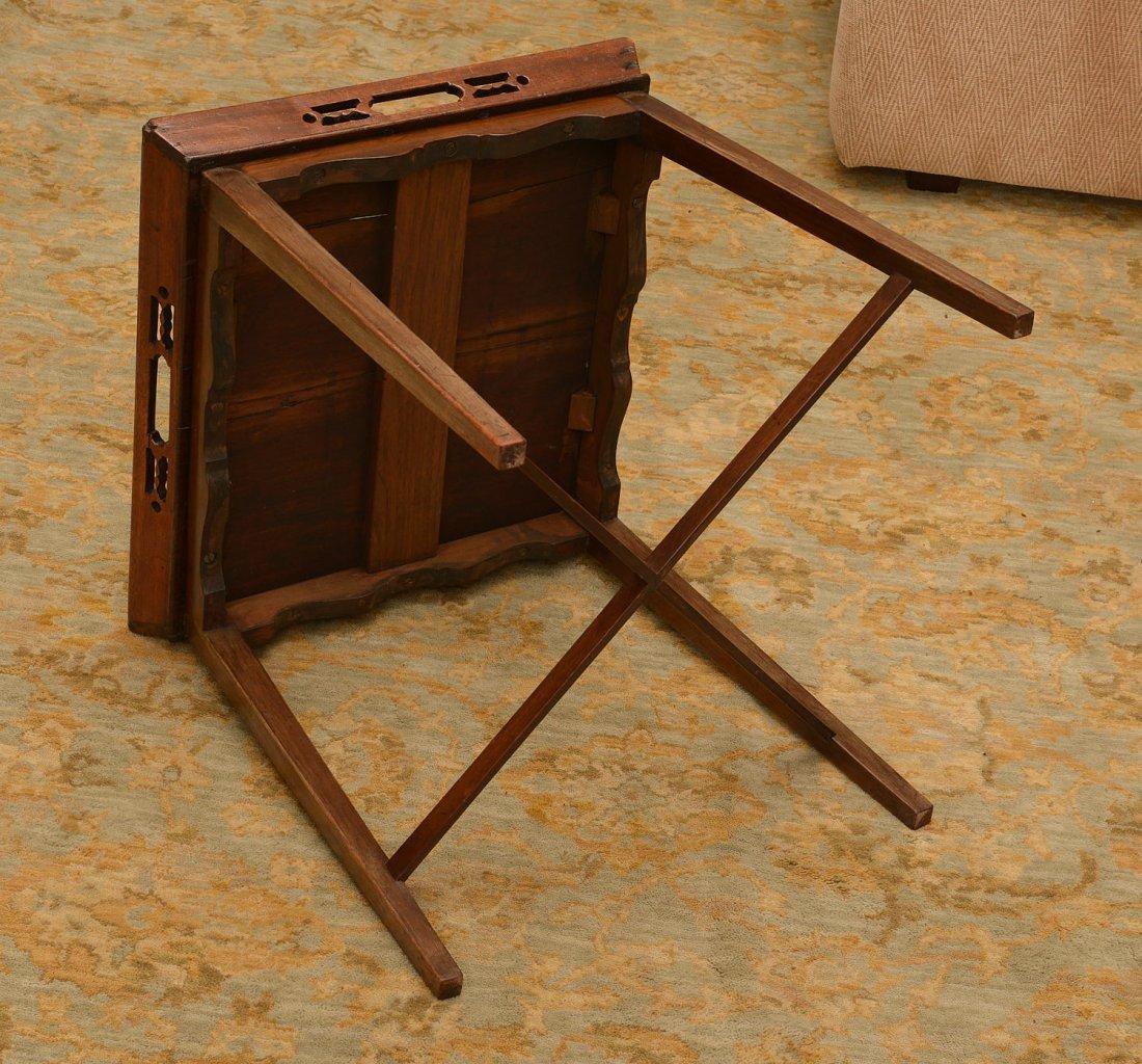 George III inlaid mahogany tray table - 4