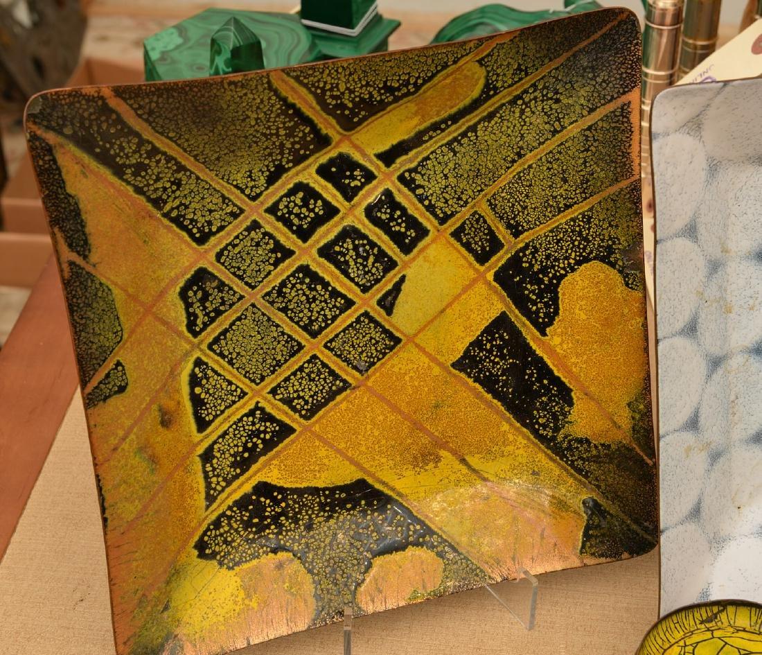 Collection signed Modernist enamelware - 3