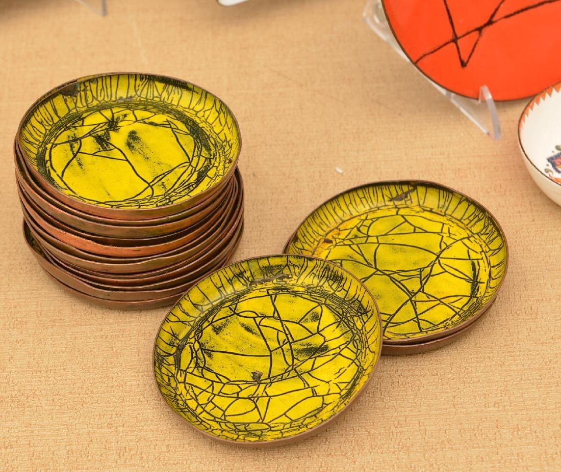 Collection signed Modernist enamelware - 4